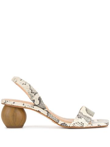 Vicenza Snakeskin Effect Sandals - Neutrals