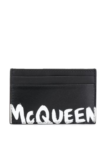 Alexander Mcqueen Logo Stamp Cardholder - Black
