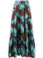 P.a.r.o.s.h. Long Floral Print Skirt - Brown