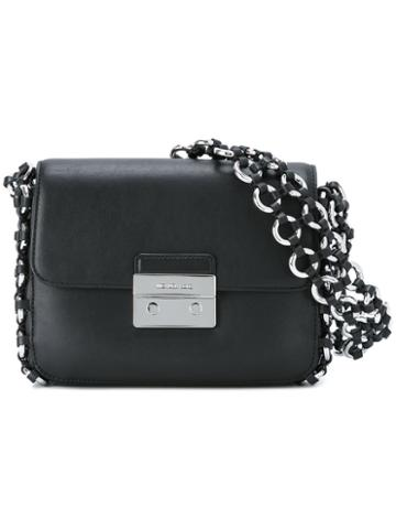 Michael Michael Kors Piper Flap Shoulder Bag, Women's, Black, Leather