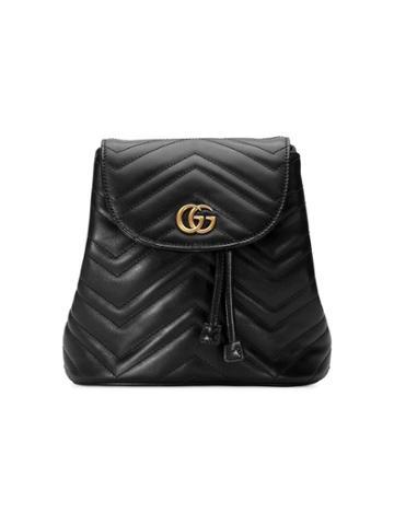 Gucci Black Gg Marmont Matelassé Backpack