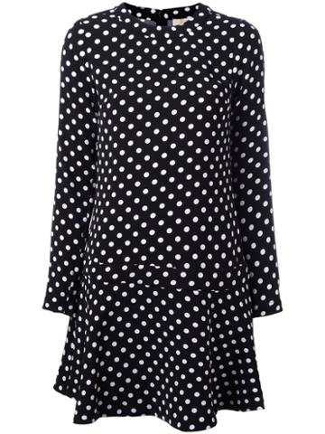 Michael Michael Kors Dots Print Dress, Women's, Size: Medium, Black, Polyester