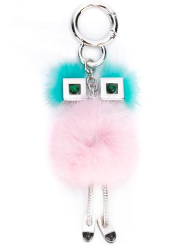 Fendi - Chick Bag Charm - Women - Mink Fur/metal - One Size, Mink Fur/metal