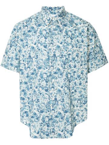 Comme Des Garçons Vintage Abstract Print Shortsleeved Shirt - Blue