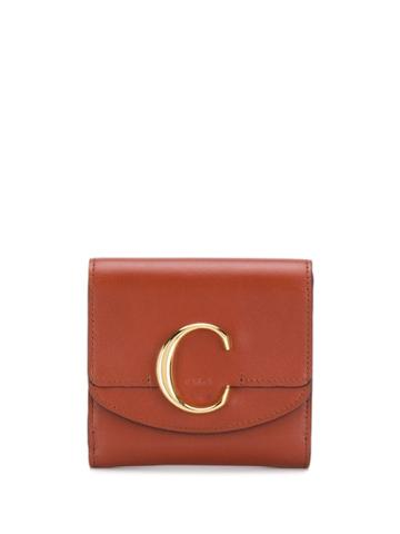 Chloé Chloé C Wallet - Brown