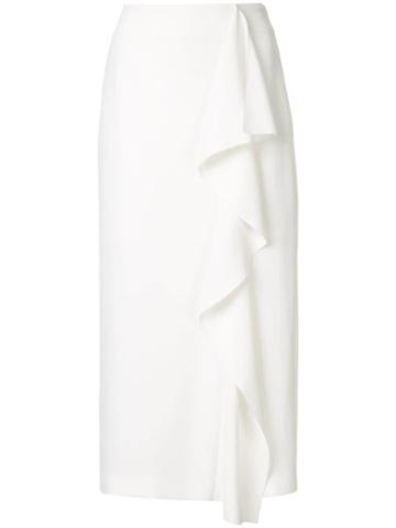 Goen.j Ruffled Midi Skirt - White