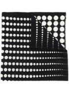 Altea Polka Dot Patterned Fine Knit Scarf - Black