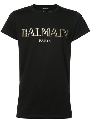 Balmain - Logo Patch T-shirt - Men - Cotton - S, Black, Cotton