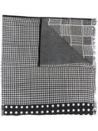 Altea Mixed-print Scarf - Black