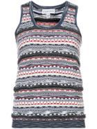 Carven Patterned Knit Tank Top - Multicolour