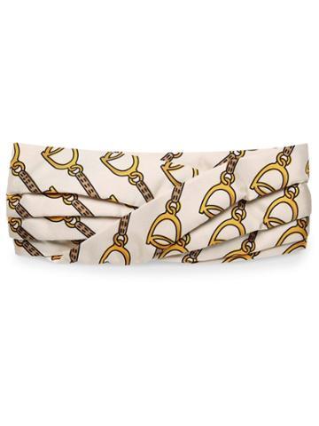 Gucci Stirrups Print Headband - White