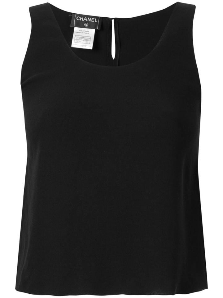 Chanel Pre-owned Silk Short Tank Top - Black
