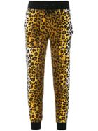 Love Moschino Leopard Print Track Pants - Black