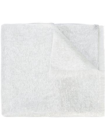 Bajra Metallic Scarf - White
