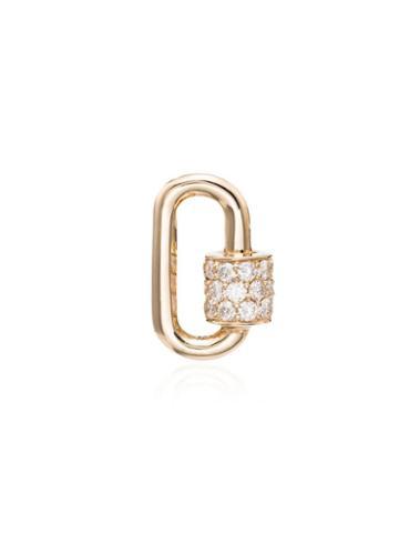 Marla Aaron Gold Chuby Baby Diamond Lock Charm - Metallic