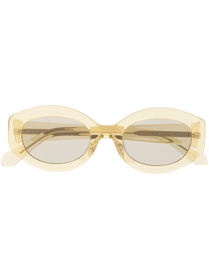 Karen Walker Bishop Sunglasses - Crystal Sunray