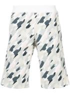Loveless Paintstroke Print Shorts - White