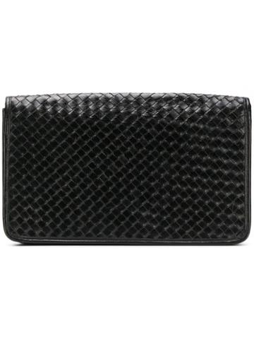 Katheleys Pre-owned 1970's Interlaced Clutch - Black
