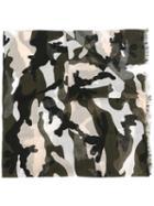 Valentino Camouflage Scarf, Men's, Silk/modal/cashmere