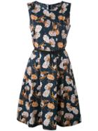 Woolrich - Patterned Shift Dress - Women - Cotton - L, Blue, Cotton