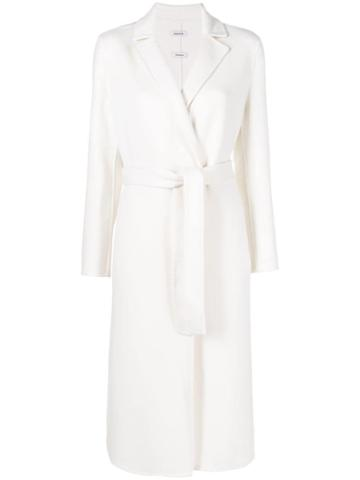 P.a.r.o.s.h. Belted Robe Coat - White