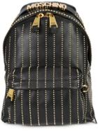 Moschino Studded Lines Backpack - Black