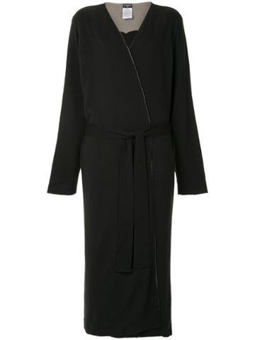 Chanel Vintage Belted Reversible Coat - Black