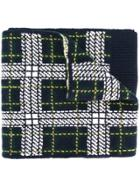 Bally Tartan Knit Scarf - Green