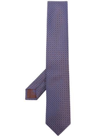 Brioni Patterned Tie - Brown