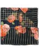 Yves Saint Laurent Vintage Floral Print Scarf, Women's, Black