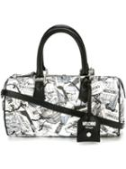 Moschino Shopping Bag Print Bowler Tote