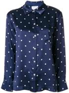 Asceno Polka Dot Shirt - Blue