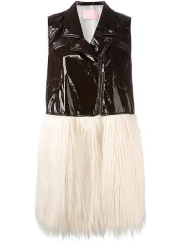 Giamba Panelled Sleeveless Coat