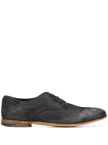 Premiata Grazian Distressed Oxford Shoes - Black