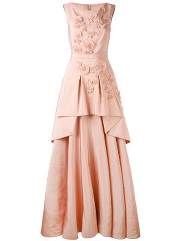 Talbot Runhof Mogul Dress - Pink