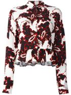 Msgm Floral Print Longsleeved Blouse - White