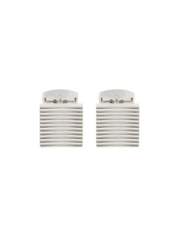 Tateossian Ribbed Cufflinks - Metallic