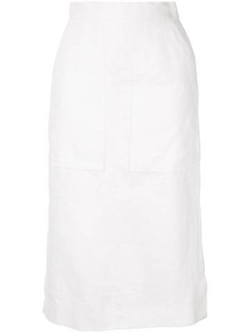 Venroy Pocket Midi Skirt - White