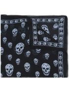 Alexander Mcqueen - Skull Scarf - Men - Silk - One Size, Black, Silk