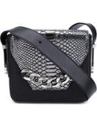 Thomas Wylde - Snakeskin Detail Bag - Women - Calf Leather - One Size, Black, Calf Leather