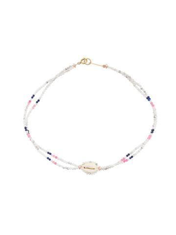 Isabel Marant Beaded Shell Necklace - White