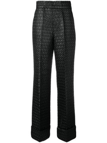 Prada Vintage 1990 Textured Trousers - Black