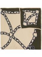 Moschino Chain Square Scarf - Nude & Neutrals
