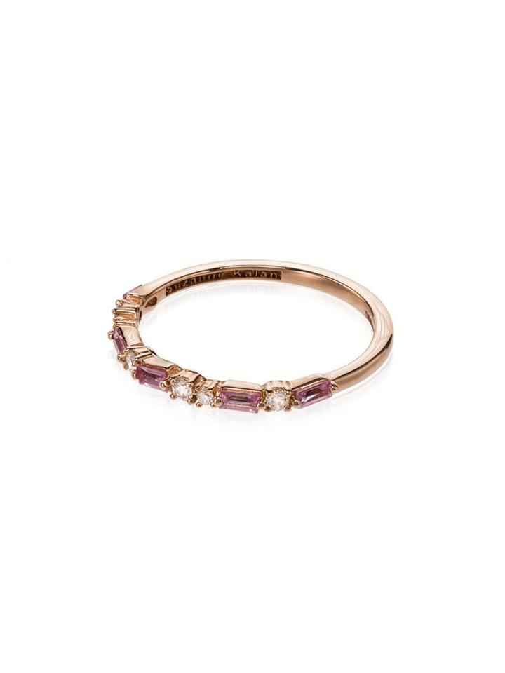 Suzanne Kalan 18kt Rose Gold Diamond And Sapphire Ring - Pink