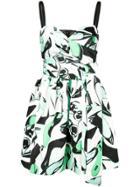Pinko Arabesque Print Dress - Green