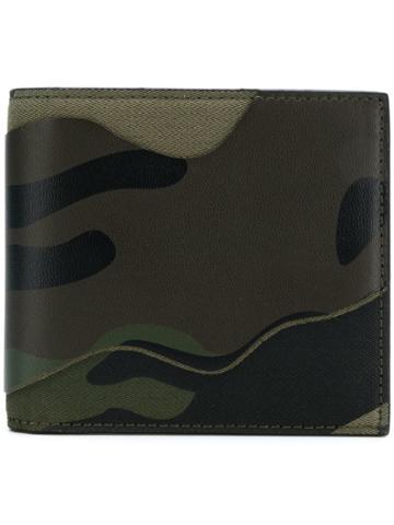 Valentino Camouflage Billfold Wallet - Green