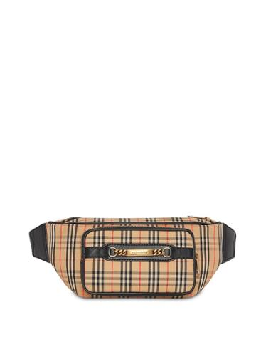 Burberry The Large 1983 Check Link Bum Bag - Black