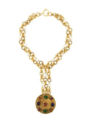 Chanel Pre-owned 1984 Byzantine Necklace - White