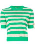 Fendi Striped Sweater - Green