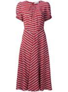 Altuzarra Striped Ruched Detail Dress